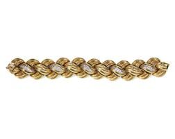 240. gold and diamond bracelet, van cleef & arpels, 1960s