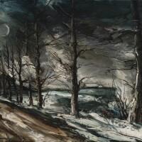498. maurice de vlaminck | claire de lune sur la neige