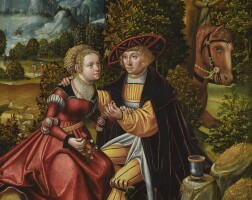 12. the master of the lockinge courtship panelactive in germany, first half of the 16th century | 'courtship' or 'the offer of love'