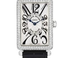 2035. franck muller   whitegold and diamond-set wristwatchref950 qz dno562 long island circa 2002