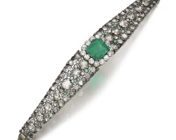 47. emerald and diamond bracelet, first half of 20th century