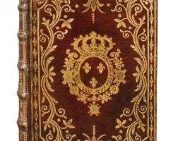 9. almanach royal, année 1785. d'houry, [1784]. in-8, maroquin rouge à décor aux armes de louis xvi.