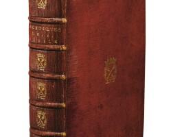 3. basile–hermant. les ascetiques ou traitez... paris, 1679. in-8. mar. rouge aux armes de paule de gondi.