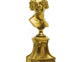 6. an ormolu bust of louis xv after jean-baptiste ii lemoyne (1704-1778) circa 1760, the base possibly associated