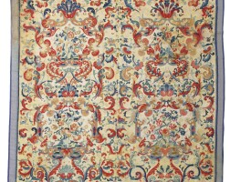 1005. a french needlepoint carpet, 18th century |