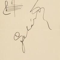 187. lehár, franz. autograph musical quotation signed