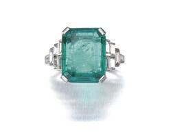 53. emerald and diamond ring, 1937