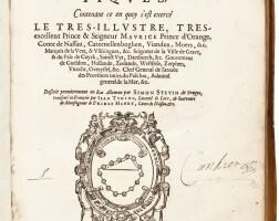 189. stevin, memoires mathematiques, leiden, 1608, contemporary vellum