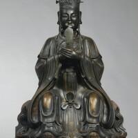 144. 明十六/十七世紀 銅文昌帝君坐像
