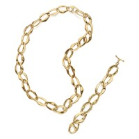 511. gold 'aegean' necklace and bracelet, elsa peretti for tiffany & co.