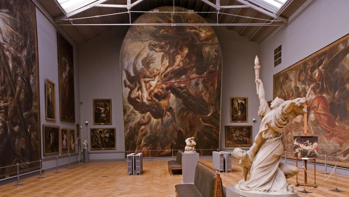 Interior of the Musée Wiertz Museum, Musées Royaux des Beaux-arts de Belgique