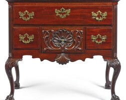 18. important major general anthony wayne chippendale carved mahogany dressing table, carving attributed to the garvan carver, philadelphia, circa 1770