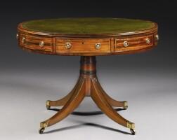 309. a regency mahogany circular drum table circa 1810