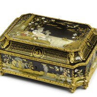 710. a louis xiv ormolu-mounted, tortoiseshell, mother-of-pearl, brass and pewter-inlaid boulle marquetry casket circa 1700