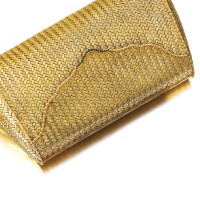 506. gold and emerald evening bag, piccini