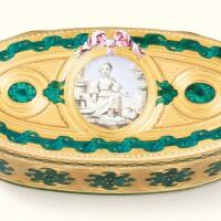 54. a gold and enamel snuff box, pierre-médard mothet, paris, 1766 |
