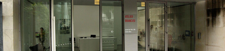 Exterior view of the Atelier Brancusi.