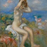 10. 皮耶・奧古斯特・雷諾瓦 | 《海邊梳妝的女子》