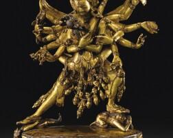 107. 十六世紀 西藏 鎏金銅合金勝樂金剛立像