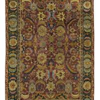 13. an isphahan rug, central persia