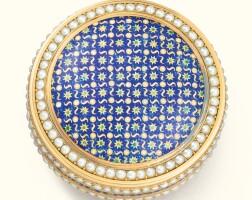 45. a gold, enamel and pearl bonbonnière, jean-auguste lorentz, paris, 1784 |