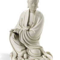 105. a dehua figure of guanyin qing dynasty, 18th century