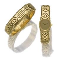 5. gold watch and bracelet, 'parentesi', bulgari