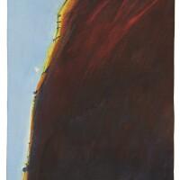 142. wayne thiebaud | steep hill (untitled landscape)