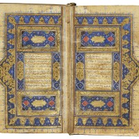 33. an illuminated miniature qur'an, turkey or persia, ottoman or safavid, early 16th century