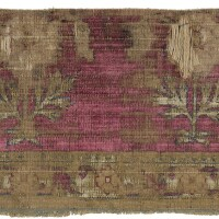 36. a mughal silk velvet fragment, kashmir