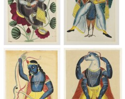 1. four kalighat paintings