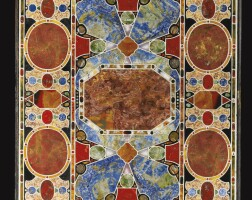 12. an italian pietre dure and pietre tenerewhite marble inlaid table top, florence, circa 1560-1580