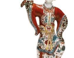 30. a rare kinrande 'dancing lady' ewer ming dynasty, jiajing period