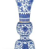3. a blue and white 'bajixiang' vase, gu qing dynasty, 18th – 19th century |