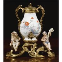 3. an unusual gilt-bronze mounted porcelain table fountain circa 1750