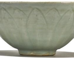 112. a 'longquan' celadon 'lotus' bowl southern song / yuan dynasty
