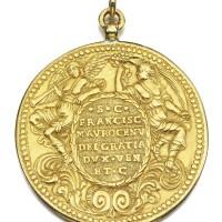 1. a rare venetian gold presentation medal of doge francesco morosini (1688-94) |