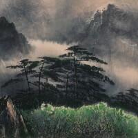 2941. 劉國松 黃山 | 設色紙本 鏡框 一九八八年作