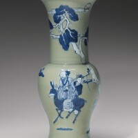 163. a celadon, copper-red and underglaze-blue yen-yenvase qing dynasty, kangxi period