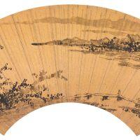 2502. 李流芳 1575-1629 | 渡橋圖