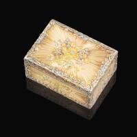 48. a four-colour gold snuff box, nicolas delions, paris, 1755 |