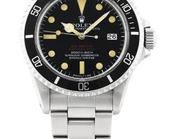 44. 勞力士(rolex) | 1665型號「'double red' sea-dweller」精鋼鍊帶腕錶備日期顯示,年份約1974。