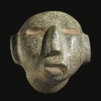 14. chontal stone head, late preclassic, ca. 300-100 b.c.