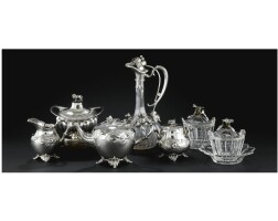 11. european silver and crystal table wear