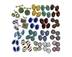 7. nineteen pairs of cufflinks