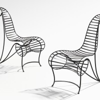 12. andré dubreuil   pair of spine chairs