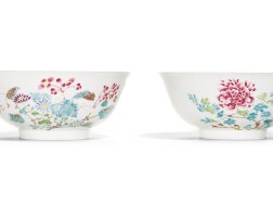 47. a pair of famille-rose 'floral' bowls yongzheng marks and period