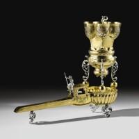 5. a rare german silver parcel-gilttrinkspiel (drinking game) cup, hans maulbrunner, augsburg, 1614-1616 | a rare german silver parcel-gilttrinkspiel (drinking game) cup, hans maulbrunner, augsburg, 1614-1616