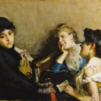 4. adolfo feragutti-visconti | young women in an interior