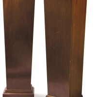 40. a pair of mahogany gaines in neoclassical style  